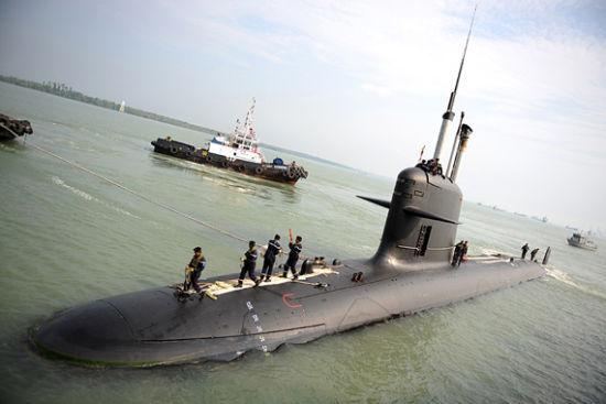 资料图:法国�鱼(Scorpene)级潜艇