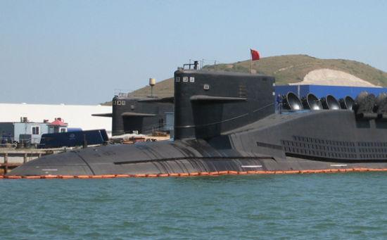 资料图:网上流传的中国海军新型094级战略核潜艇
