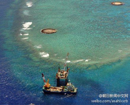日本在冲之鸟礁建港口