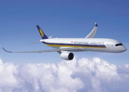 新加坡航空A350-900飞机。