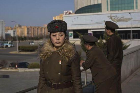 资料图:朝鲜女兵