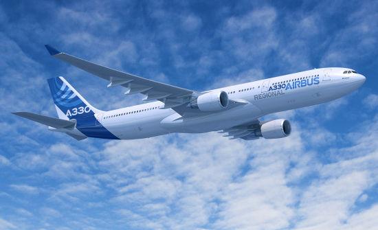 空客A330区域版飞机效果图