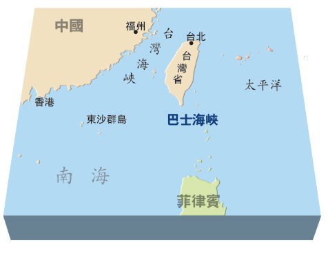 吕宋海峡即中国海军进出岛链南端的通道:巴士海峡