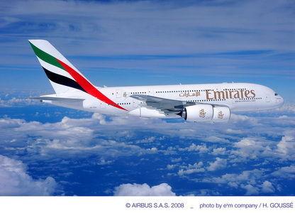 阿联酋航空空客A380飞机