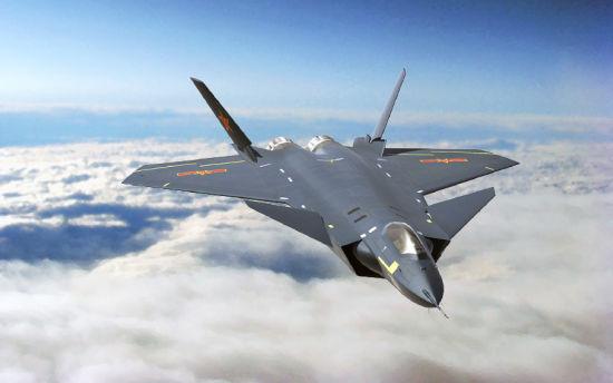 资料图:我国J-20翱翔在空中的想象图