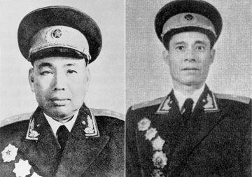 东线指挥员许世友和西线实际指挥员张�秀将军