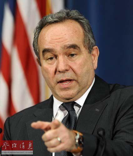 资料图:2010年2月2日,在日本首都东京,美国前助理国务卿库尔特・坎贝尔举行记者招待会
