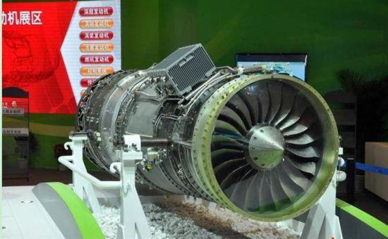 """中国""""岷山""""双转子加力型涡扇发动机由中航工业贵州黎阳航空发动机公司生产"""