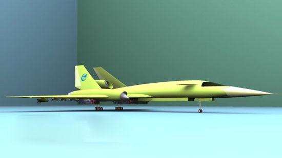 资料图:网友设计的中国未来轰炸机设想CG图