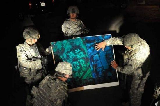 资料图:美军展示的3D打印地图