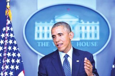 6月19日,美国总统奥巴马在华盛顿白宫就伊拉克局势发表讲话。新华社发