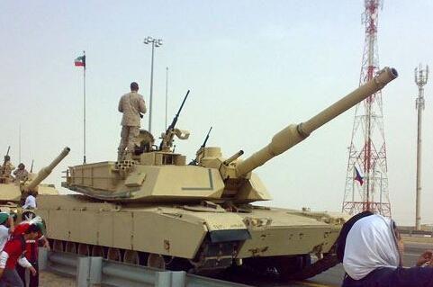 资料图:科威特装备的M1A2坦克