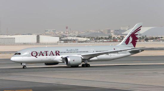 卡塔尔航空的787-8梦想飞机将参加7月14-18日的静态展示