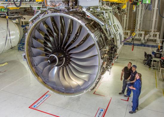 遄达XWB-97推力达97,000磅,是空客A350-1000客机装配的唯一发动机,并定于2016年年底首飞,2017年投入运营。