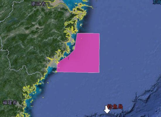 7月29日至8月2日东海实弹演习区域