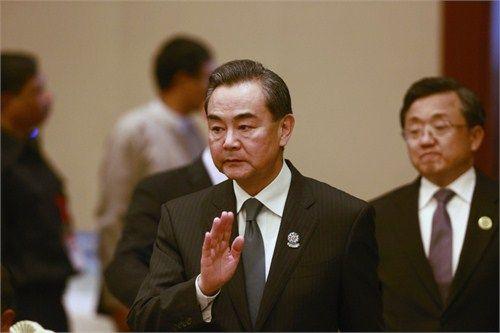 王毅在缅甸国际会议中心