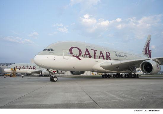 到伦敦希思罗机场的航线,随后还将执飞从多哈哈马德国际机场到巴黎