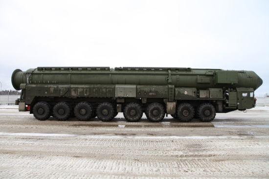 资料图:俄罗斯白杨M洲际导弹
