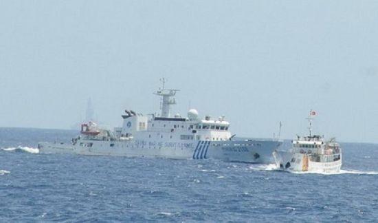 资料图:中越海上发生激烈的对峙