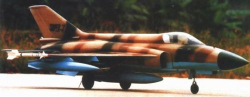 资料图:最初期公布的超7轻型战斗机模型。