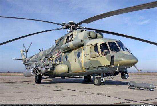 资料图:俄罗斯米-8AMTSh直升机