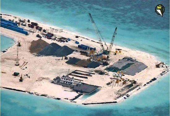 资料图:2014年7月11日东门礁填海工程图