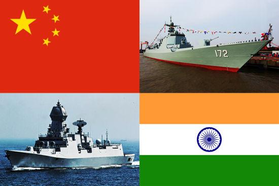 资料图:加尔各答级驱逐舰与052D驱逐舰是中印两国目前的主力