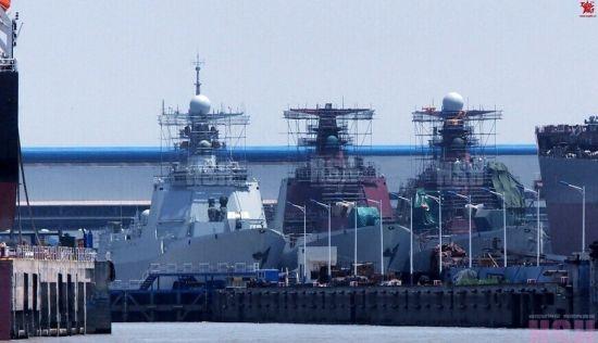 资料图:中国海军最新锐的052D驱逐舰转眼已经有了5艘