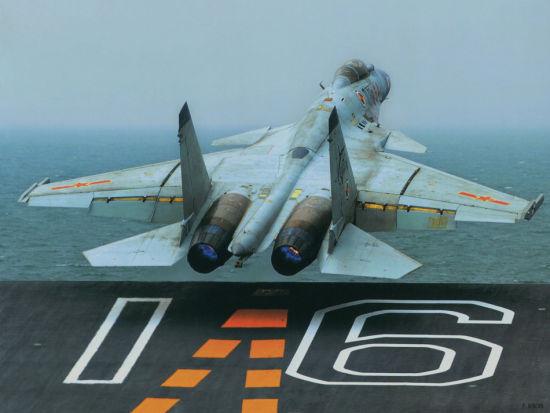 资料图:歼15飞鲨舰载机早已公开曝光,现将近年来,官方军事杂志刊登的歼15航母上飞行训练图汇总成集再次让大家欣赏下。