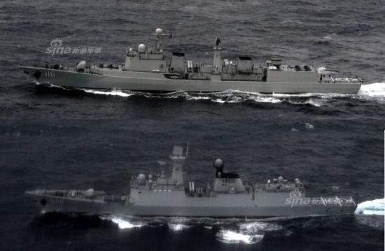 资料图:北海舰队精锐舰队穿大隅海峡