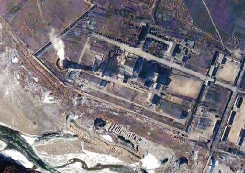 材料图:朝鲜核设备卫星相片