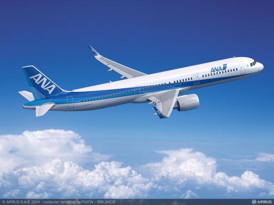 资料图:全日空A321飞机。