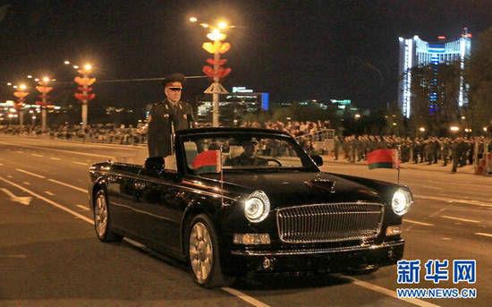 中国红旗敞篷检阅车亮相白俄罗斯阅兵彩排(图) 资讯 第1张