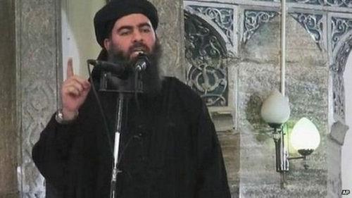 """资料图:极端组织""""伊斯兰国""""头目巴格达迪。"""