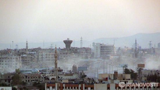 俄驻叙利亚大马士革使馆遭两枚火箭弹袭击