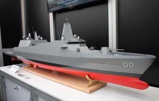 日本三菱重工展示的30DX护卫舰,外形非常先进,却没有装备反舰导弹或者反潜武器