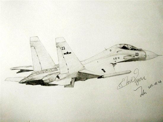 采用我军海军航空兵机号涂装的苏-30MK多用途战斗机,是在苏-27的基础上改进而来(王晗 画)