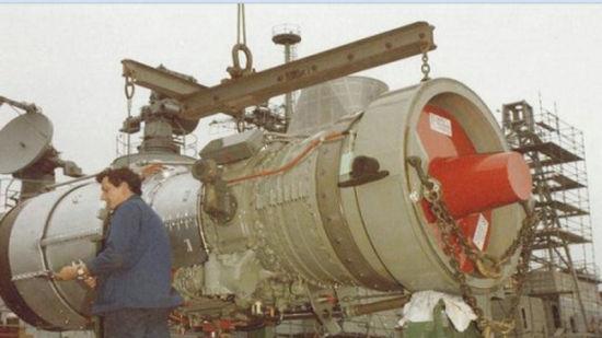"""1980年代中曾有意引进英国""""奥林普斯""""燃气轮机"""