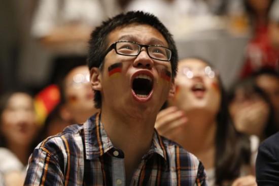 西媒:国足没参赛中国球迷欣赏世界杯心情倍爽