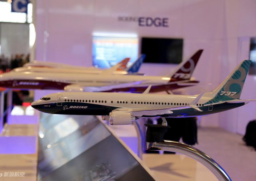 波音多款旗舰飞机模型亮相