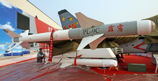 图文:PL-9C空空导弹近距特写