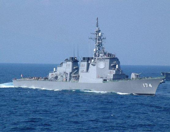 图文:日本海上自卫队174雾岛号宙斯盾战舰