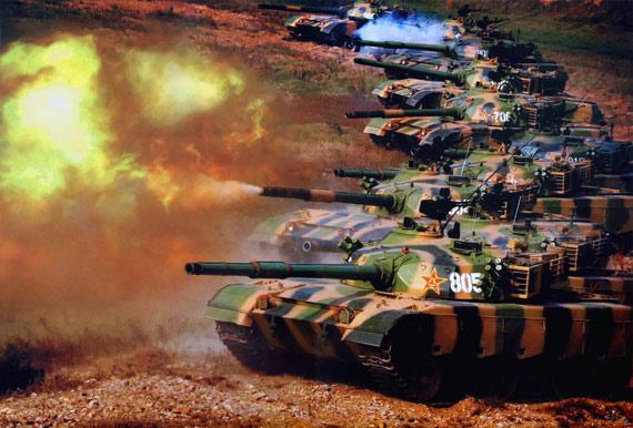 图文:国产96式主战坦克改进后成陆军主力