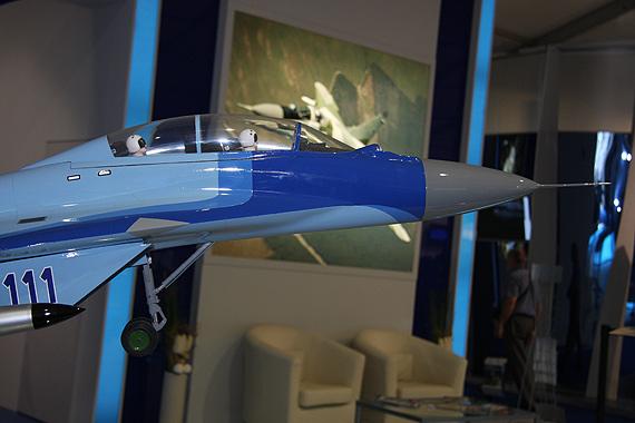 图文:米格-29KUB战斗机机头特写