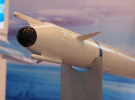 图文:飞豹近防系统用导弹弹头特写