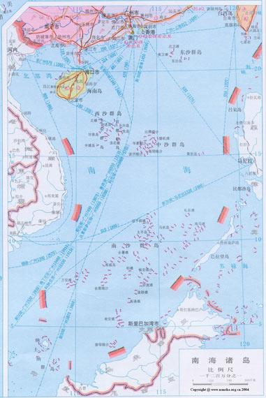 图文:中国南海地区地图