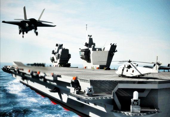 未来英国海军新型航母将配备F-35战机