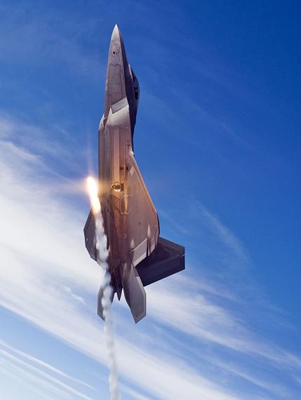 图文:f-22a飞行高度大于其他战机