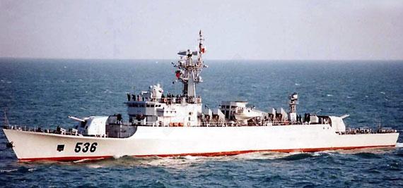资料图:中国海军536芜湖号江湖III级导弹护卫舰