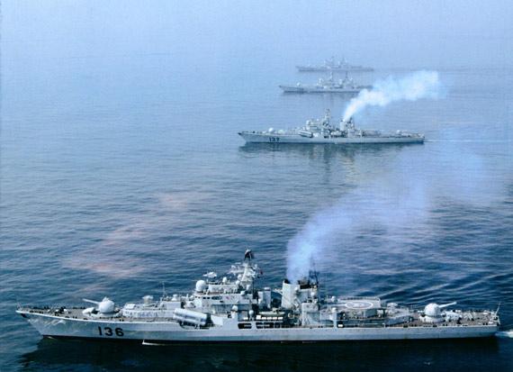 中国海军购买装备了4艘俄制现代级导弹驱逐舰